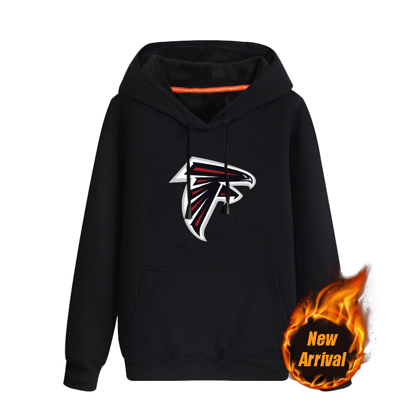 Men's Atlanta Falcons Black 70%cotton 30%polyester Cashmere Thickening version NFL Hoodie
