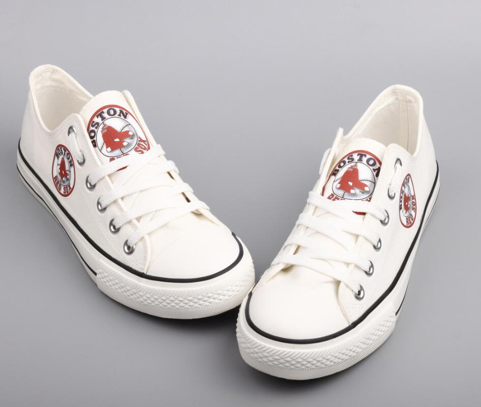Women's Boston Red Sox Repeat Print Low Top Sneakers 002