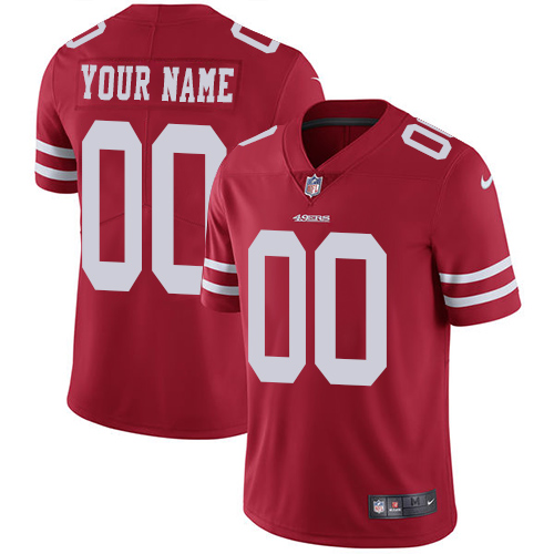 Men's San Francisco 49ers ACTIVE PLAYER Custom Red Vapor Untouchable Limited Stitched NFL Jersey
