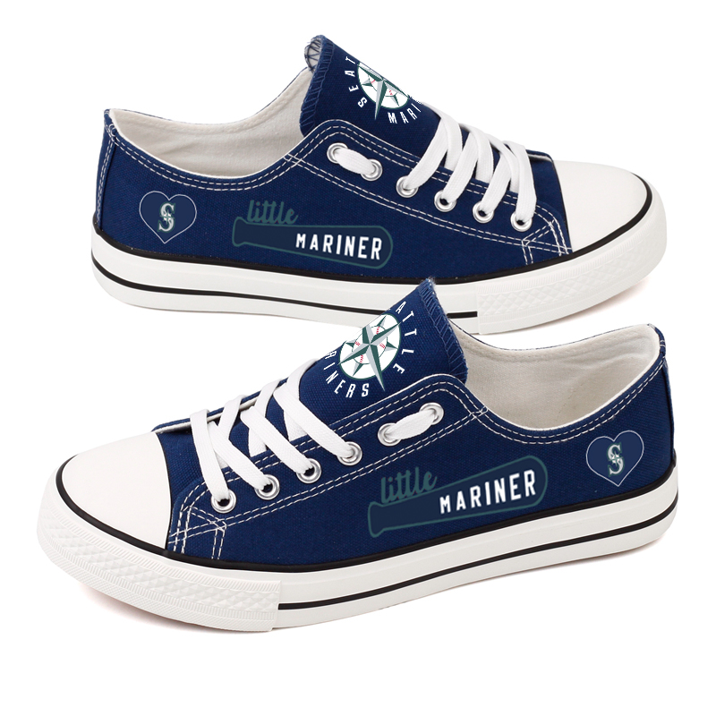 Women's Seattle Mariners Repeat Print Low Top Sneakers 003