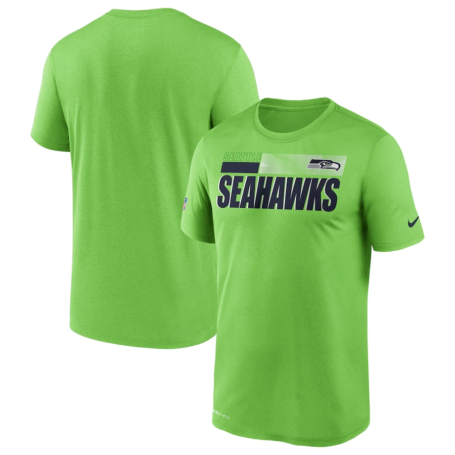 Men's Seattle Seahawks 2020 Green Sideline Impact Legend Performance T-Shirt