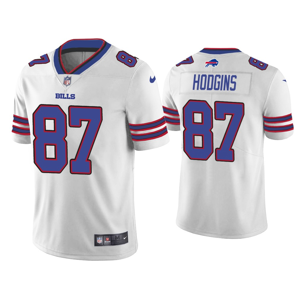 Men's Buffalo Bills #87 Isaiah Hodgins White Vapor Untouchable Limited Stitched Jersey