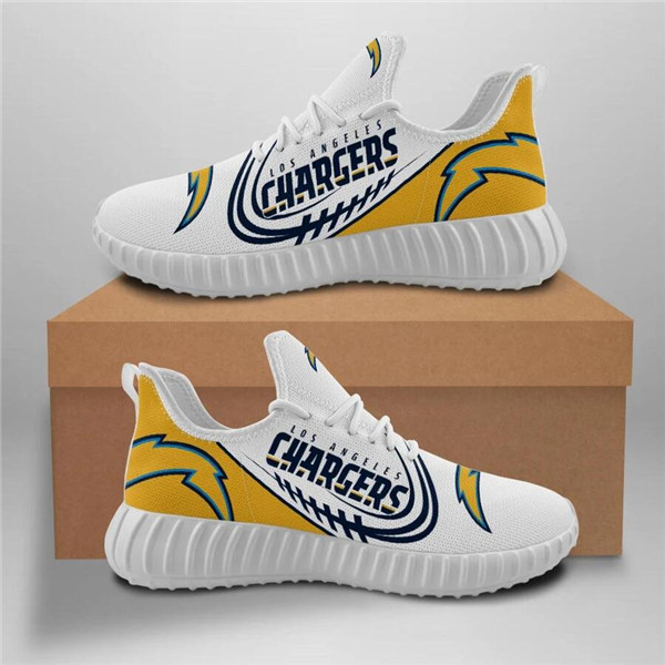 Men's Los Angeles Chargers Mesh Knit Sneakers/Shoes 005
