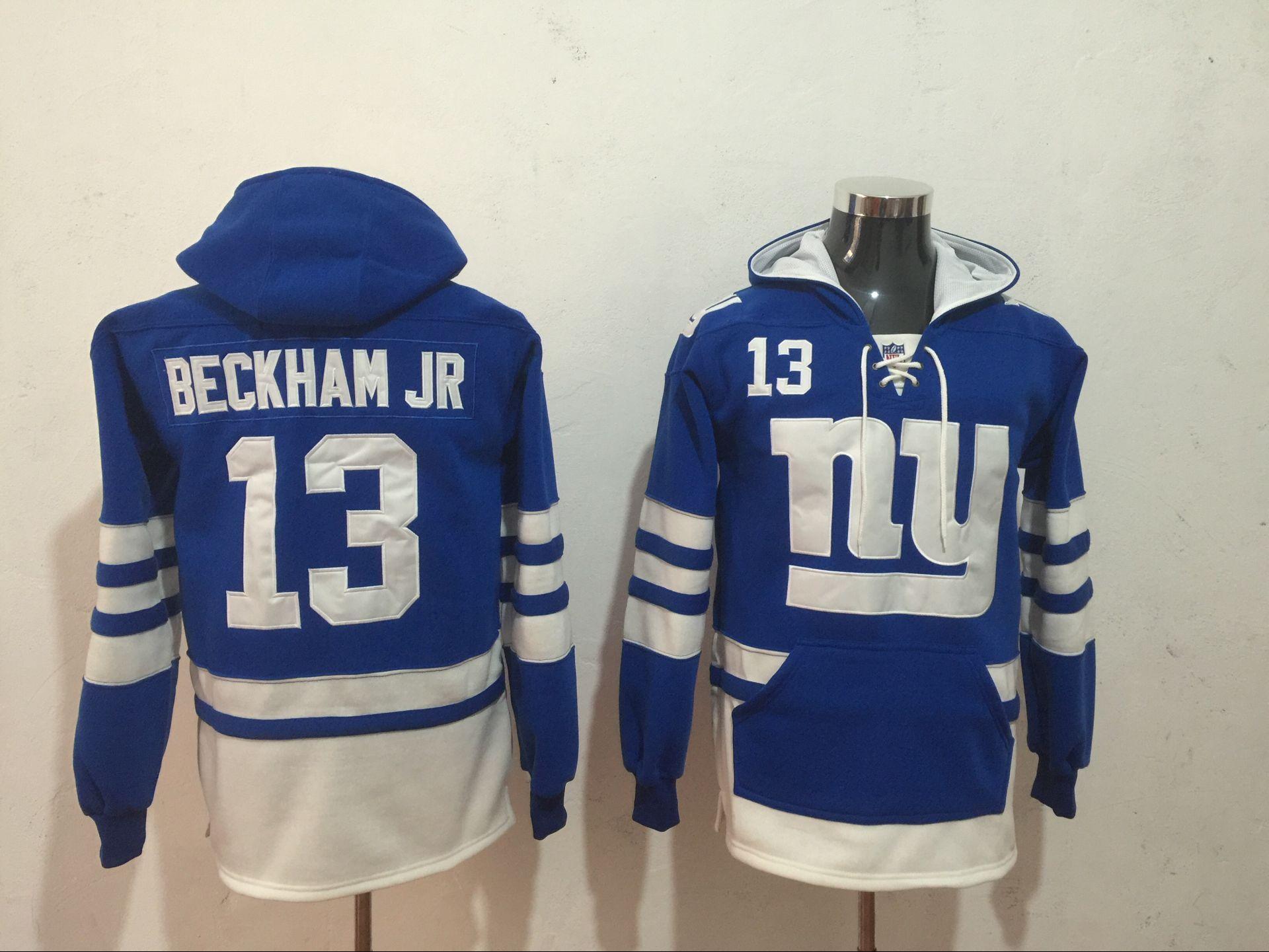 70c61f123 Men's New York Giants #13 Odell Beckham Jr. Royal Blue All Stitched NFL  Hoodie