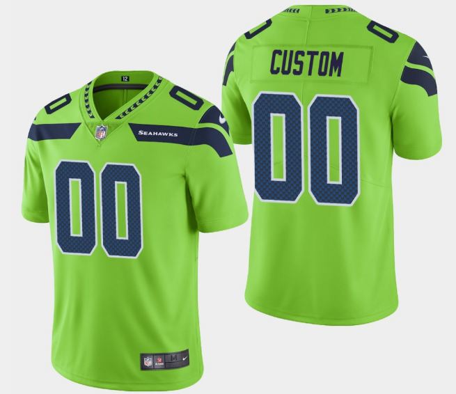 Men's Seattle Seahawks ACTIVE PLAYER Custom Green Vapor Untouchable Limited Stitched NFL Jersey