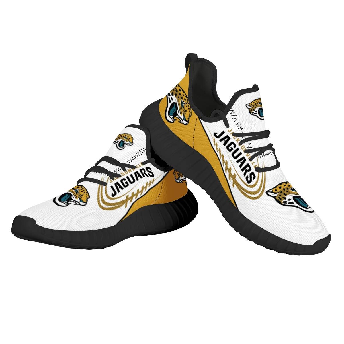 Men's NFL Jacksonville Jaguars Mesh Knit Sneakers/Shoes 001