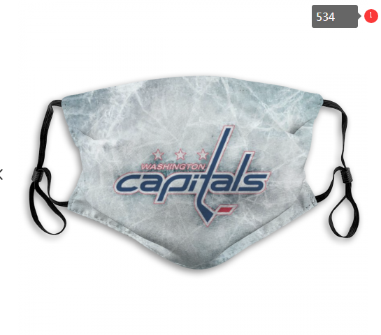 Washington Capitals Face Mask 004 Filter Pm2.5 (Pls check description for details)