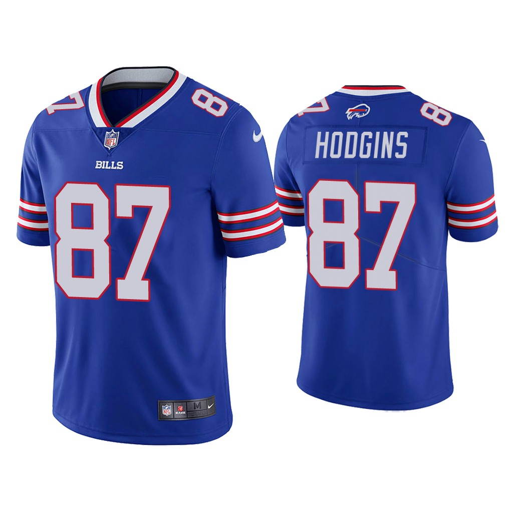 Men's Buffalo Bills #87 Isaiah Hodgins Blue Vapor Untouchable Limited Stitched Jersey