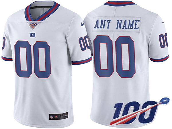 Men's New York Giants ACTIVE PLAYER Custom Color Rush 100th Season Limited Stitched NFL Jersey