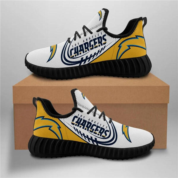Men's Los Angeles Chargers Mesh Knit Sneakers/Shoes 006