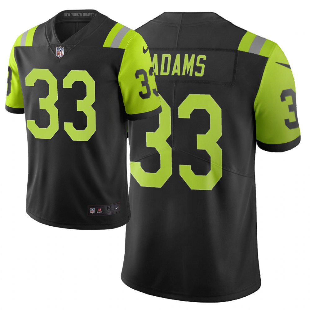 Men's New York Jets #33 Jamal Adams Black /Green 2019 City Edition Limited Stitched NFL Jersey