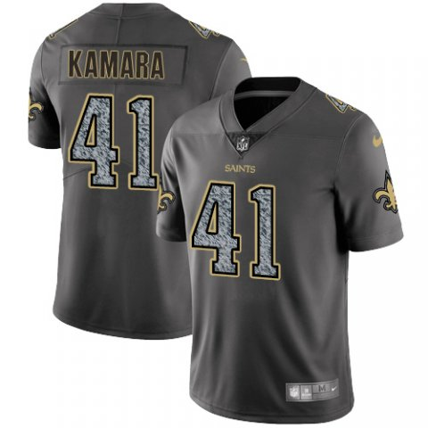 Men's New Orleans Saints #41 Alvin Kamara 2019 Gray Fashion Static Limited Stitched NFL Jersey