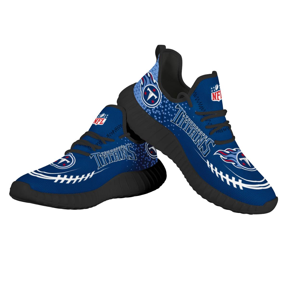 Men's NFL Tennessee Titans Mesh Knit Sneakers/Shoes 001