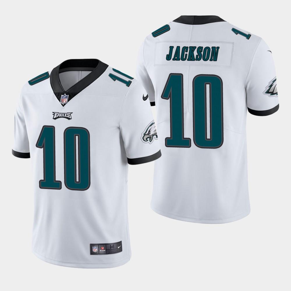 ebc32064bb0 Men's Philadelphia Eagles #10 DeSean Jackson White Vapor Untouchable  Limited Stitched Jersey