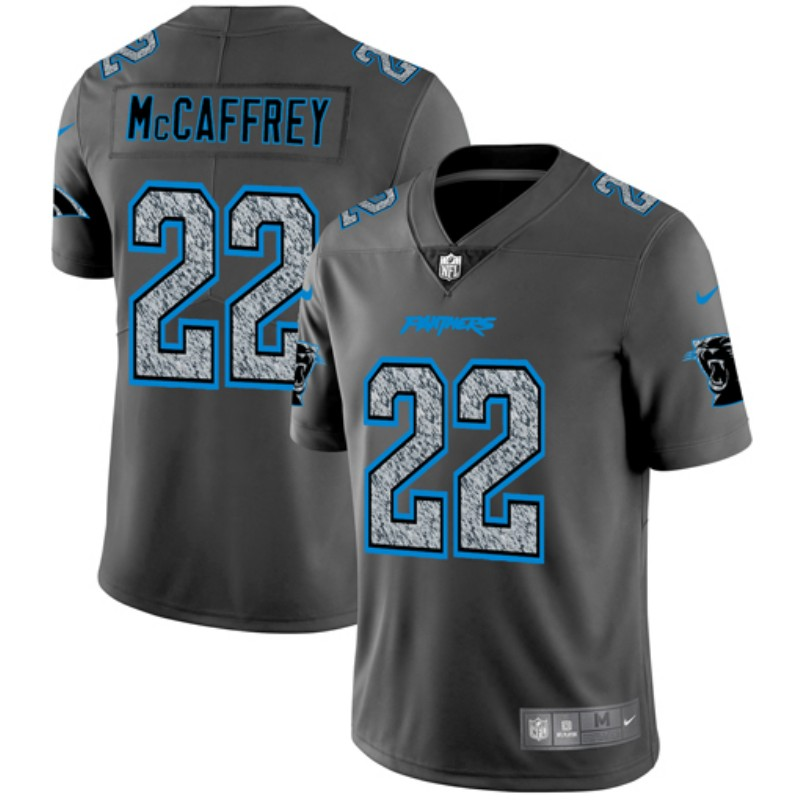 Men's Carolina Panthers #22 Christian McCaffrey 2019 Gray Fashion Static Limited Stitched NFL Jersey