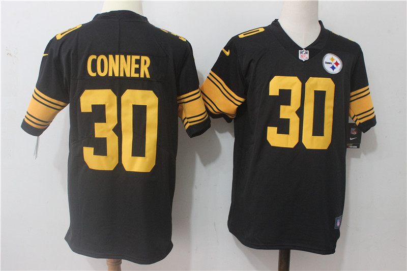 74b20800c Men's Nike Pittsburgh Steelers #30 James Conner Black Stitched NFL Limited  Rush Jersey