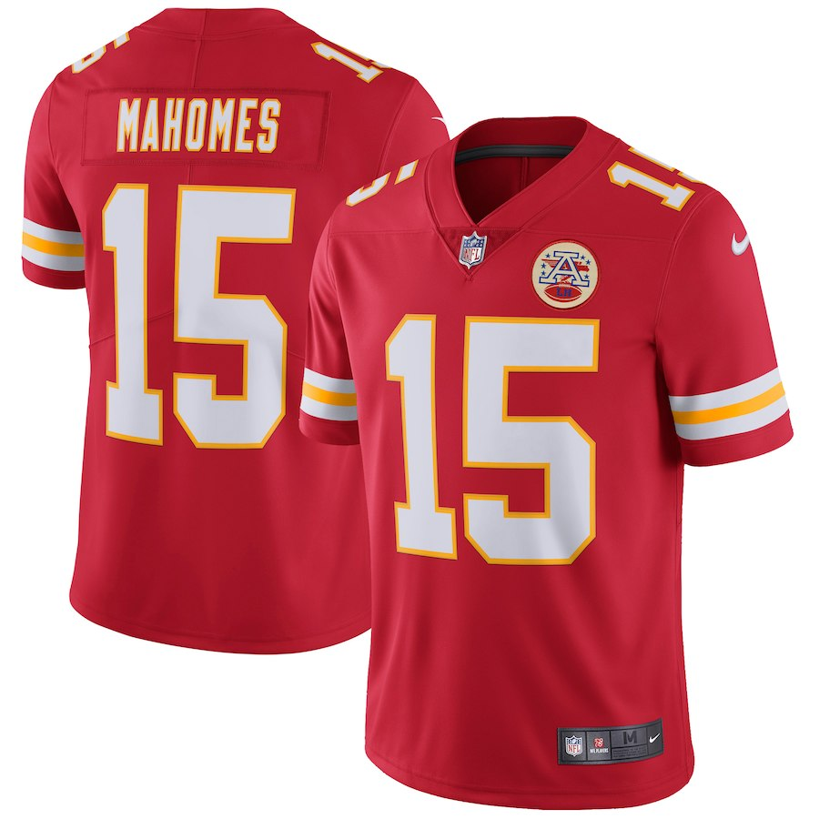 Men's Kansas City Chiefs #15 Patrick Mahomes Red Vapor Untouchable Limited Stitched NFL Jersey