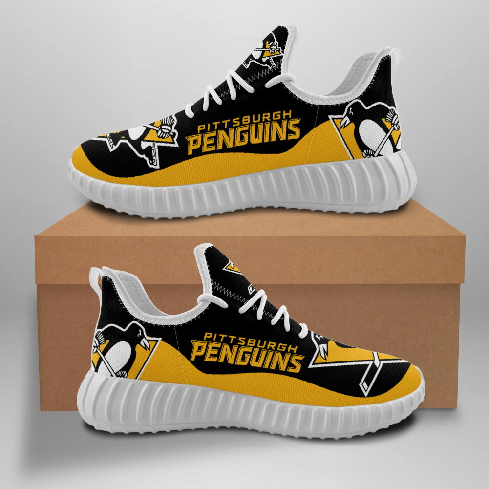 Men's NHL Pittsburgh Penguins Mesh Knit Sneakers/Shoes 001