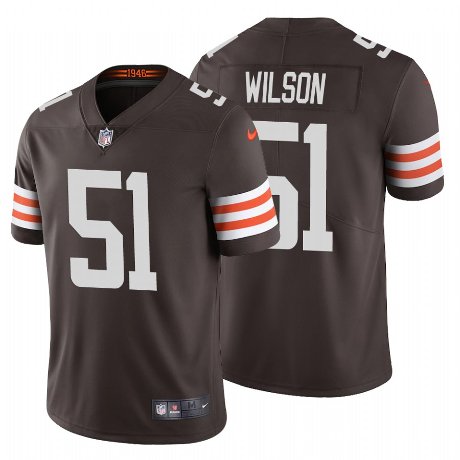 Men's Cleveland Browns #51 Mack Wilson 2020 New Brown Vapor Untouchable Limited Stitched Jersey