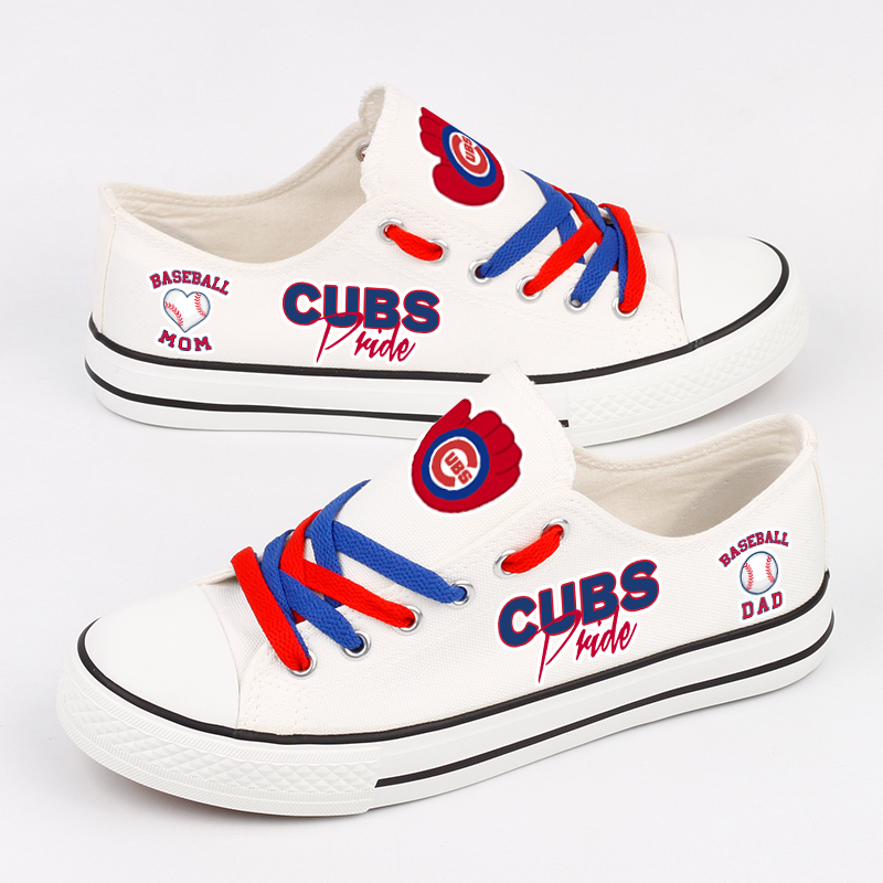 Women's Chicago Cubs Repeat Print Low Top Sneakers 006