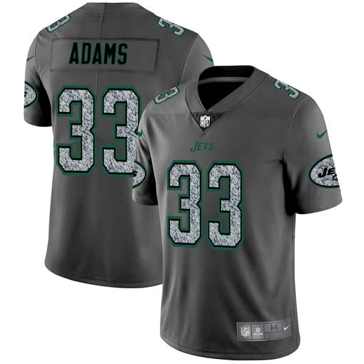 Men's New York Jets #33 Jamal Adams 2019 Gray Fashion Static Limited Stitched NFL Jersey