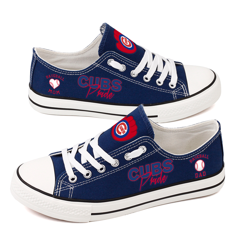 Women's Chicago Cubs Repeat Print Low Top Sneakers 007