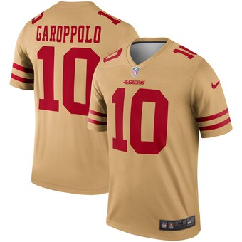Men's San Francisco 49ers #10 Jimmy Garoppolo Gold Inverted Legend Jersey