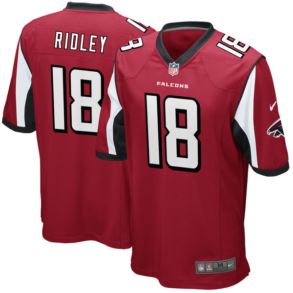 Men's Atlanta Falcons #18 Calvin Ridley Red 2018 NFL Draft First Round Pick Game Jersey