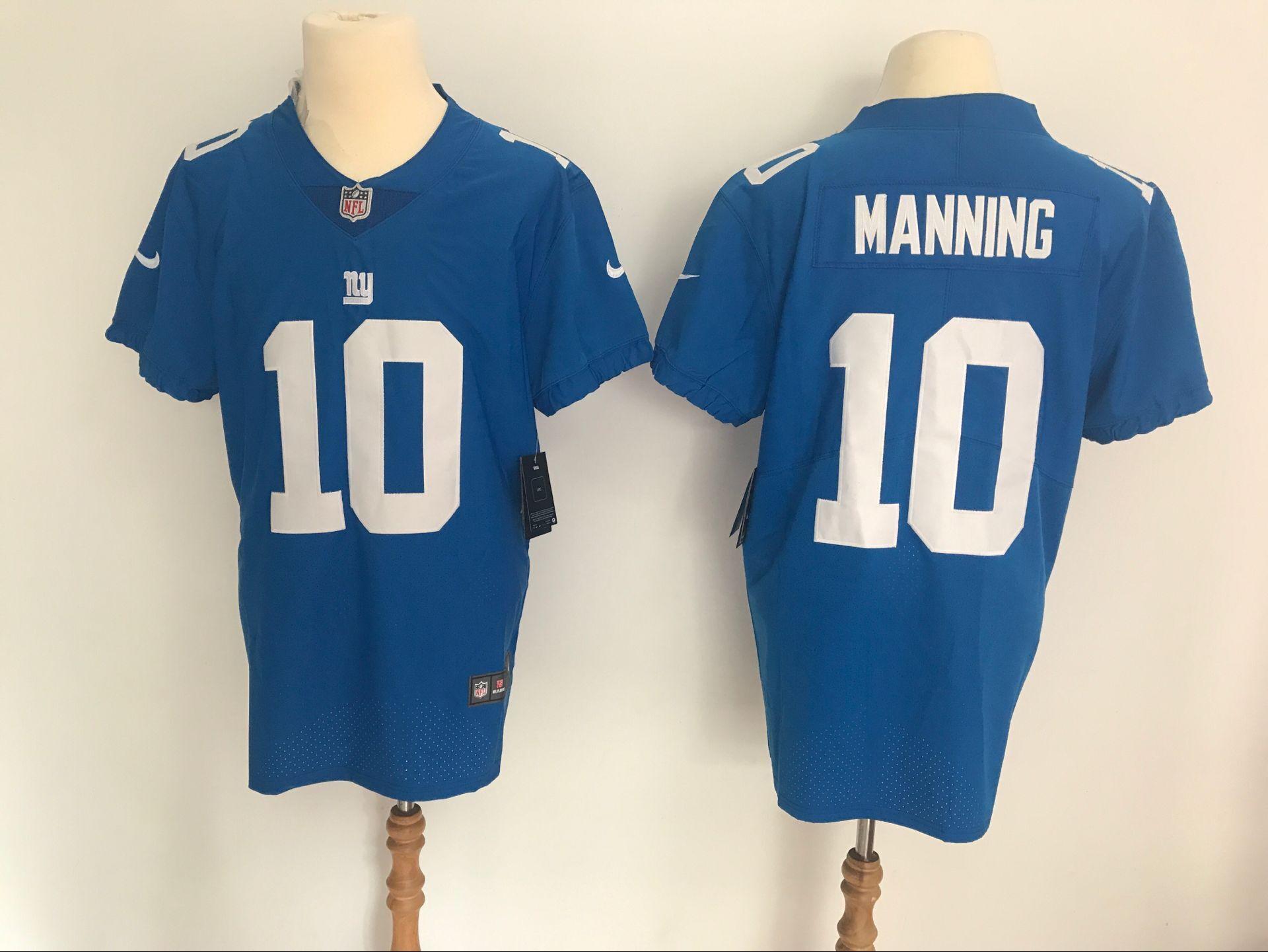bf2dccbb2 Men's New York Giants #10 Eli Manning Blue Vapor Untouchable Elite Stitched  NFL Jersey