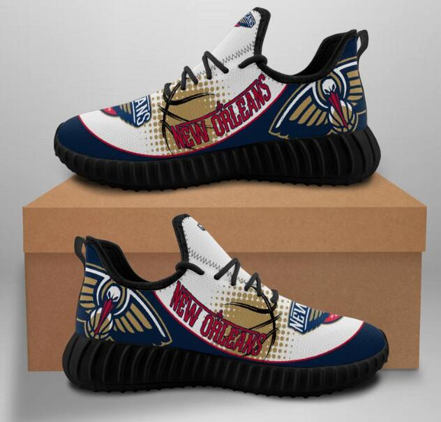 Women's New Orleans Pelicans Mesh Knit Sneakers/Shoes 001