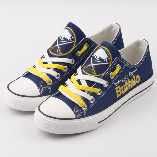 Women's and Youth NHL Buffalo Sabres Repeat Print Low Top Sneakers 001