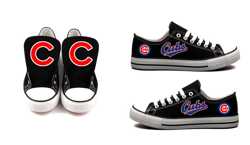 Women's Chicago Cubs Repeat Print Low Top Sneakers 003