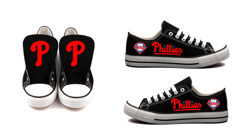 Women's Philadelphia Phillies Repeat Print Low Top Sneakers 002