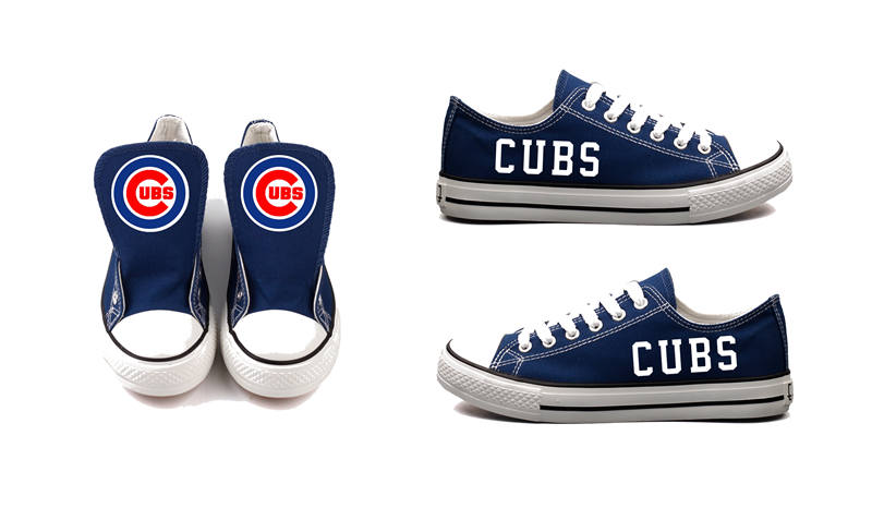 Women's Chicago Cubs Repeat Print Low Top Sneakers 004