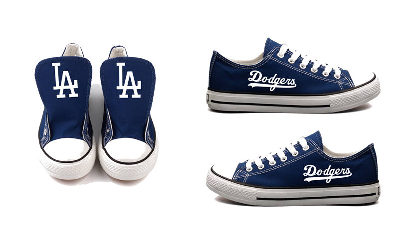 Women's Los Angeles Dodgers Repeat Print Low Top Sneakers 003