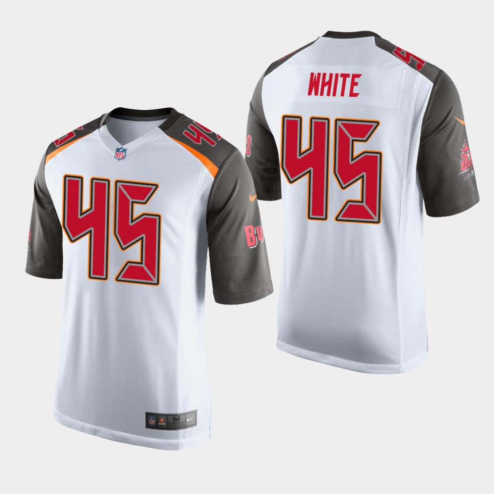 dfb14f09c896a Men's Tampa Bay Buccaneers #45 Devin White White NFL Game Jersey