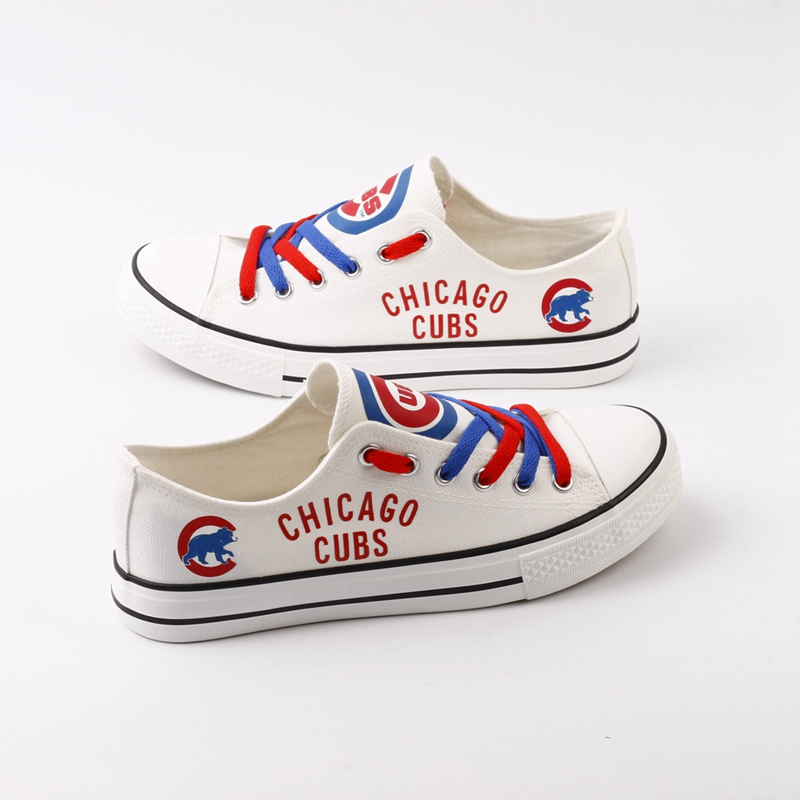 Women's Chicago Cubs Repeat Print Low Top Sneakers 001