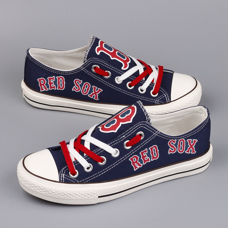 Women's Boston Red Sox Repeat Print Low Top Sneakers 003
