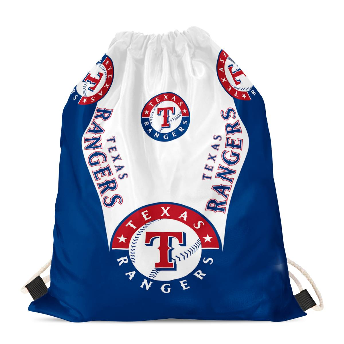 "Texas Rangers Drawstring Backpack sack / Gym bag 18"" x 14"" 001"
