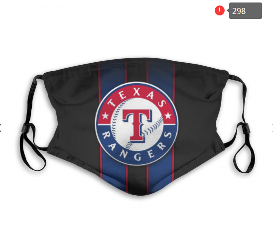 Texas Rangers Face Mask 002 Filter Pm2.5 (Pls check description for details)