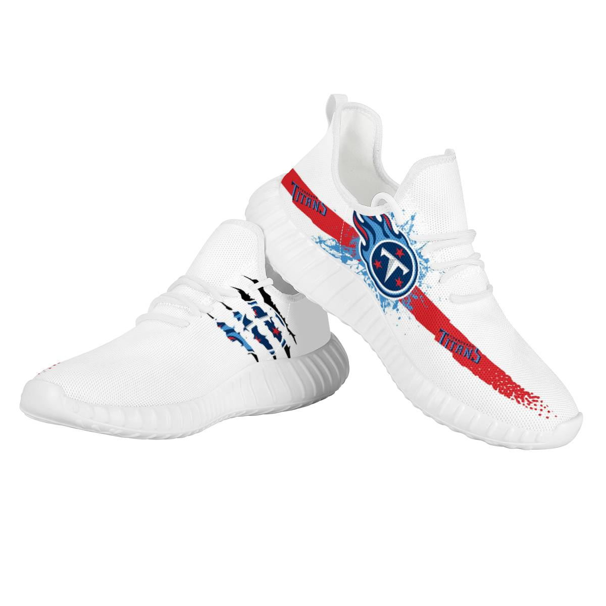 Men's Tennessee Titans Mesh Knit Sneakers/Shoes 005