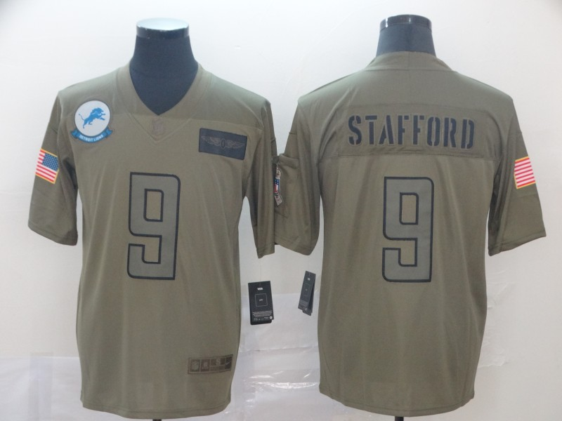 Men's Detroit Lions #9 Matthew Stafford 2019 Camo Salute To Service Limited Stitched NFL Jersey