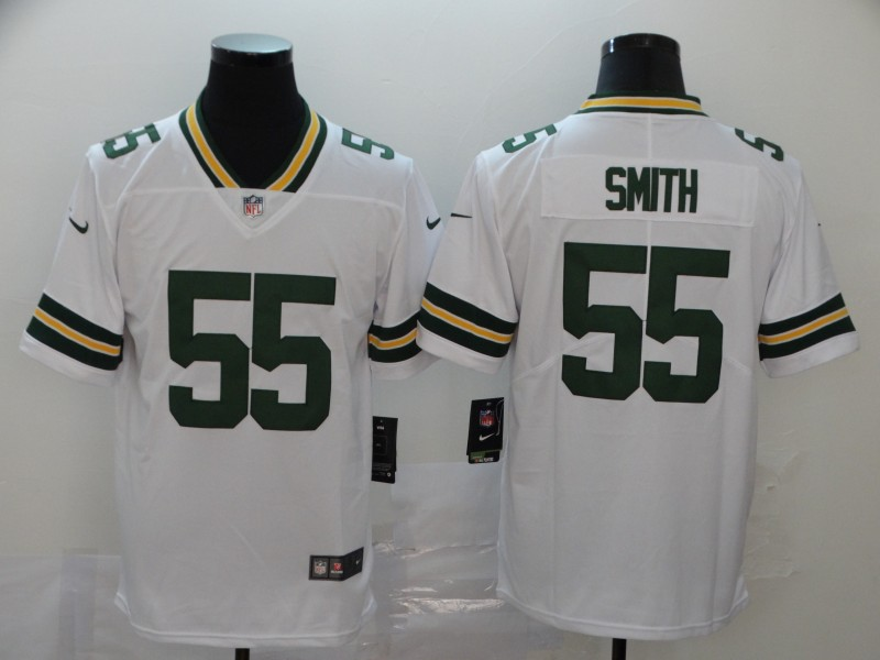 Men's Green Bay Packers #55 Za'Darius Smith White Vapor Untouchable Stitched NFL Limited Jersey