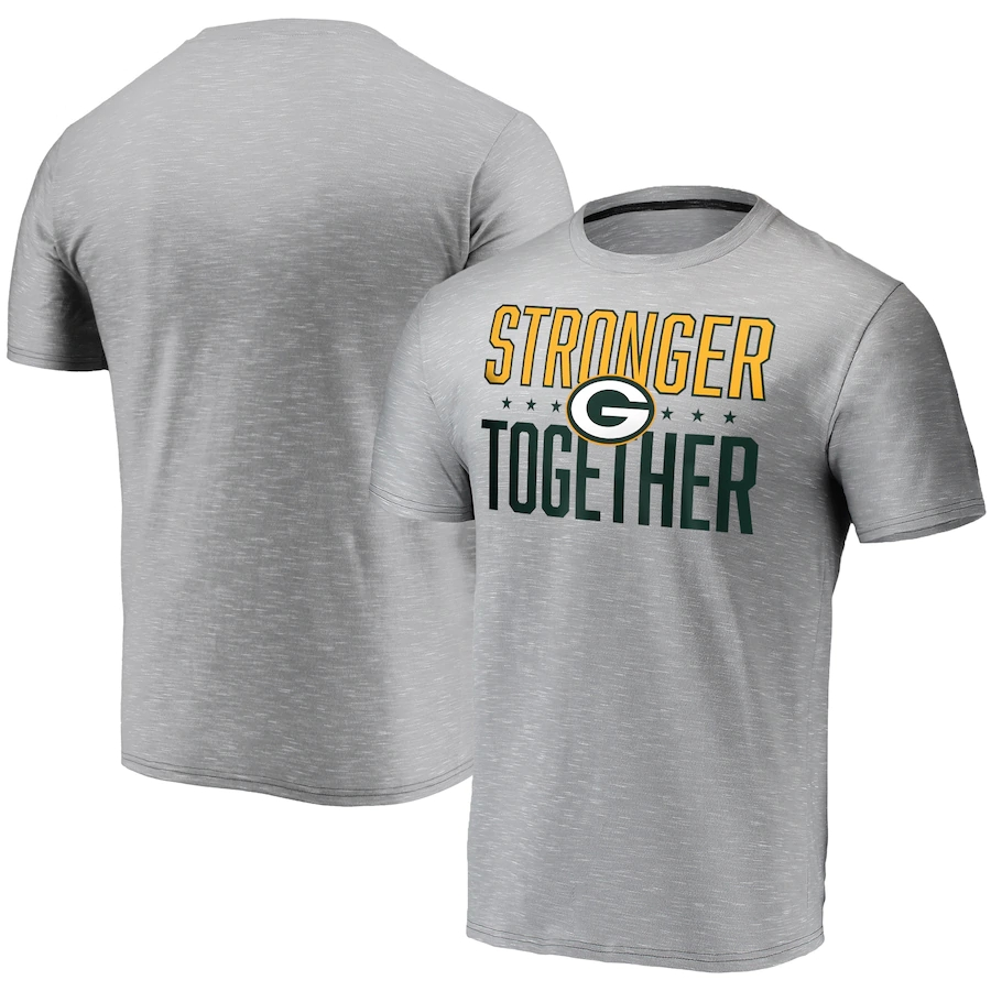 Men's Green Bay Packers Grey Stronger Together T-Shirt