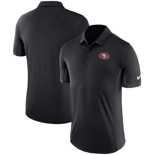 Men's San Francisco 49ers Nike Black Evergreen Polo
