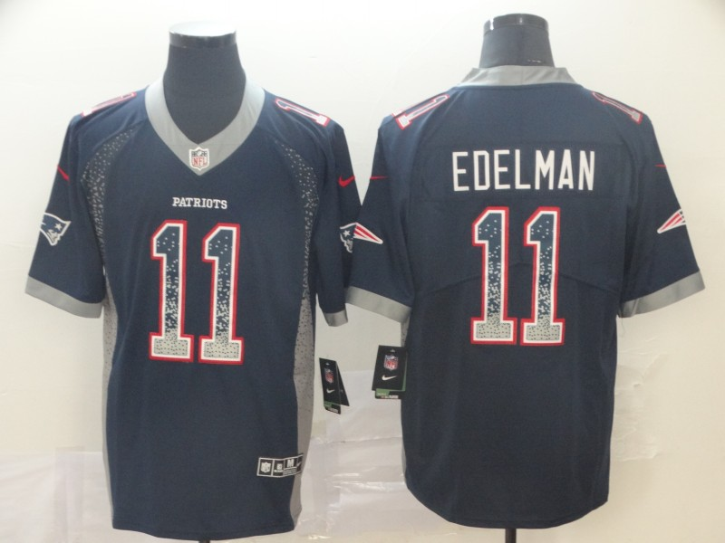 Men's New England Patriots #11 Julian Edelman Color Rush Limited Stitched NFL Jersey