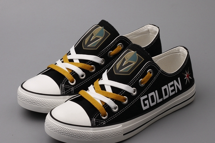 Women's and Youth NHL Vegas Golden Knights Repeat Print Low Top Sneakers 001