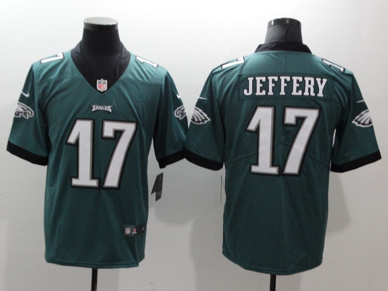 Men's Philadelphia Eagles #17 Alshon Jeffery Green Vapor Untouchable Limited Stitched NFL Jersey
