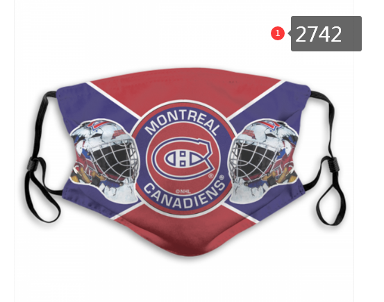 Montreal Canadiens Face Mask 2742 Filter Pm2.5 (Pls check description for details)