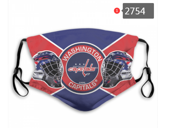 Washington Capitals Face Mask 2754 Filter Pm2.5 (Pls check description for details)